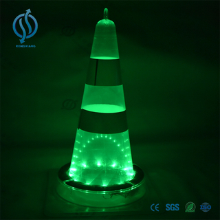 Solar led flashing traffic cone