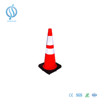 700mm Orange Cone with Black Base