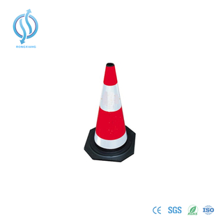 700mm Red Cone with Black Base
