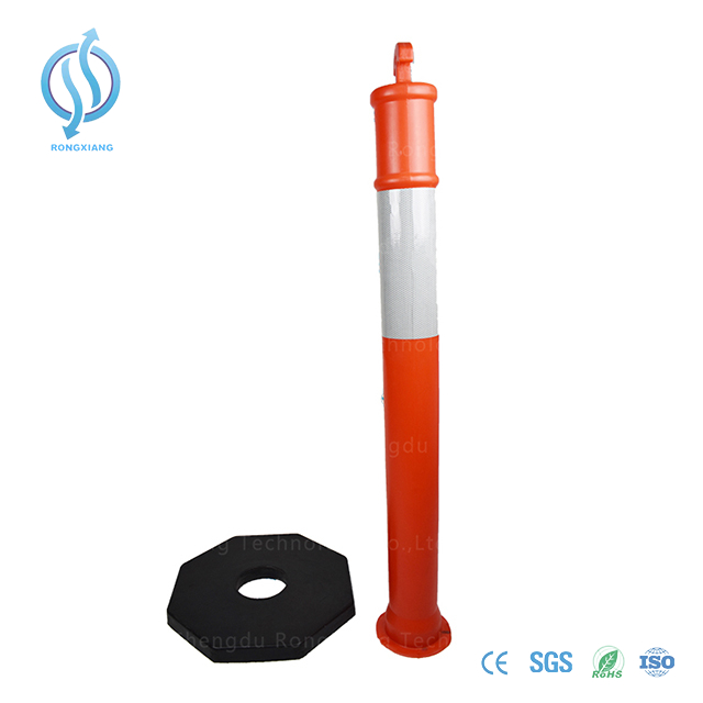 PE T-Top Warning Bollard with Reflective Strip